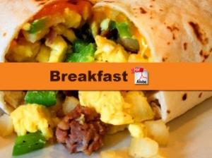Menu - Breakfast